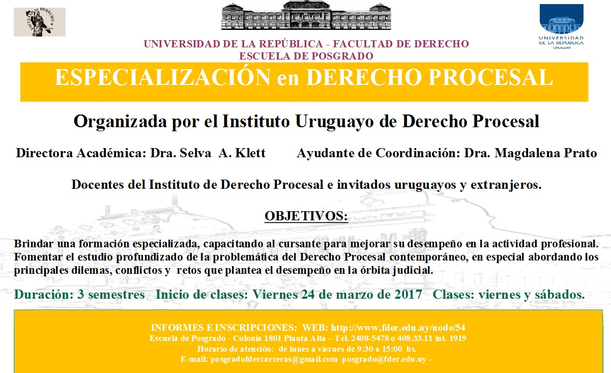 Procesal 2017 Afiche